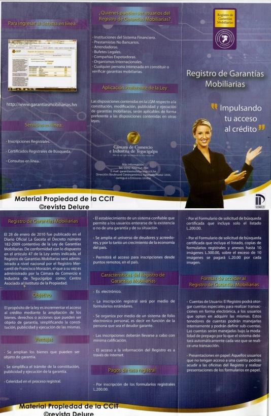 Registro de Garantías Mobiliarias de la CCIT